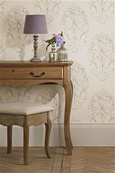 FRENCH DAMASK WALLPAPER