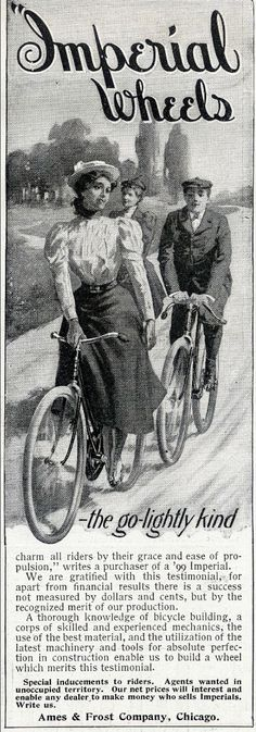 Cycling style at the beginning of the 20th Century