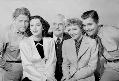 Medium publicity shot of Spencer Tracy as Jonathan 'Square John'/'Shorty' Sand, Hedy Lamarr as Karen Vanmeer, Frank Morgan as Luther Aldrich, Claudette Colbert as Elizabeth 'Betsy' Bartlett McMasters & Clark Gable as Big John 'The Moose'/'J.M.' McMasters.
