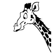 Afbeeldingsresultaat voor zijkant giraffenkop