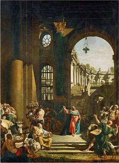 Jesus Cleansing the Temple - Bernardo Bellotto