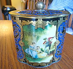 Vintage German tin for sale at More Than McCoy at http://www.morethanmccoy.com