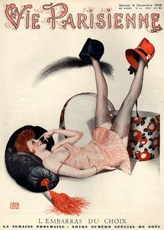Illustration by Georges Leonnec For La Vie Parisienne December 1928