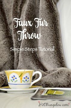 Step by step instructions on how to make a DIY faux fur throw. Tutorial includes…