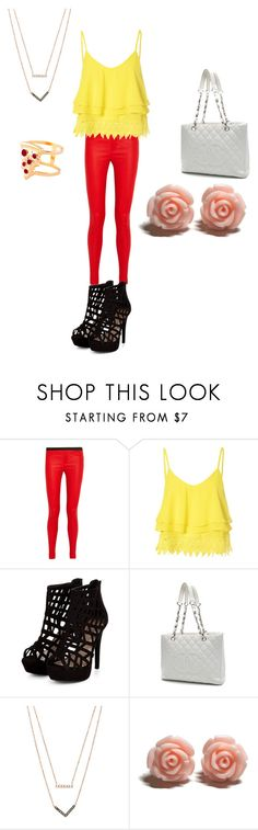 """spring time"" by queenbre101y on Polyvore featuring Helmut Lang, Glamorous, Chanel, Michael Kors, Glenda López, women's clothing, women's fashion, women, female and woman"