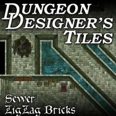 Map building art assets for creating sewer maps for use in online tabletop RPGs