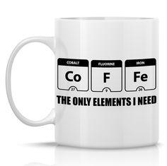 Periodic Table mug funny coffee mug science mug by HumerusWares