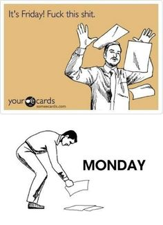 What I'm thinking right now...except I get to pick up the pieces Tuesday!!