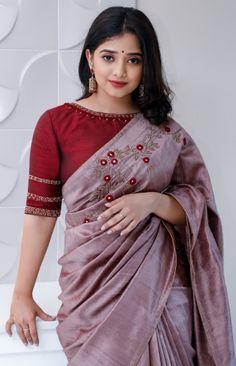 Saree Blouse Patterns, Saree Blouse Designs, Full Sleeves Blouse Designs, Saree Designs Party Wear, Sarees For Girls, Stylish Blouse Design, Saree Shopping, Saree Models, Stylish Sarees