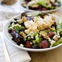 Mixed Greens with Berries and Glazed Almonds