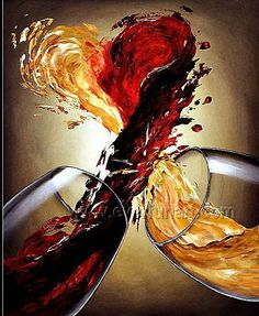 abstract wine art - Google Search