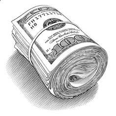 pen and ink motley money roll - KeithWitmer.com