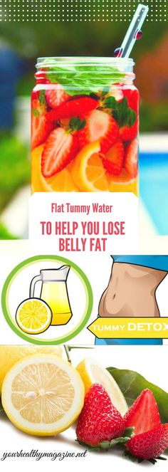 Flat Tummy Water To Help You Lose Belly Fat Water infusion recipes to help get a flatter tummy are also delicious and pleasurable to drink.Drinking water infused with ingredients like cucumber ginger mint and lemon effectively flush toxins from your body and help you lose fat around your belly at the same time. Flat tummy water is a term given to infused water drinks