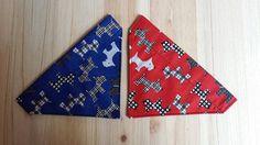 Dog bandana slide on collar neckerchief scarf by CookiesChoice