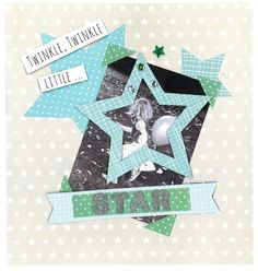 Scrapbooking page made with our free scrapbook templates and toppers