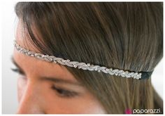 Product Description  A strand of white rhinestones with starlight luster intertwines with strands of gray suede, creating a dazzling braid.  Sold as one individual headband.