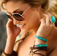 FASHIONABLE .. IN TURQUOISE!!!!