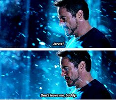 *endless sobbing* <--- You have no idea how much I cried in this scene. I thought JARVIS was gone for good, and I bawled.