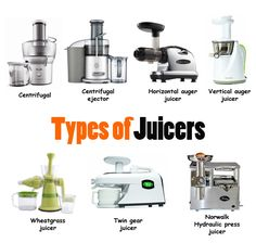Types of juicers - looking for a juicer? This article will explain the pros and cons of each one to help you choose the right one for YOUR NEEDS.