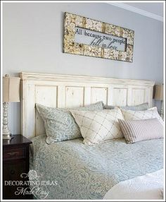 Do It Yourself Creative Headboards Ideas Using Shutters, Doors, Windows or Fireplace Mantels