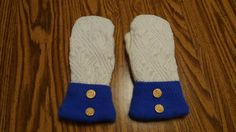 Recycled sweater mittens by denim4heaven on Etsy