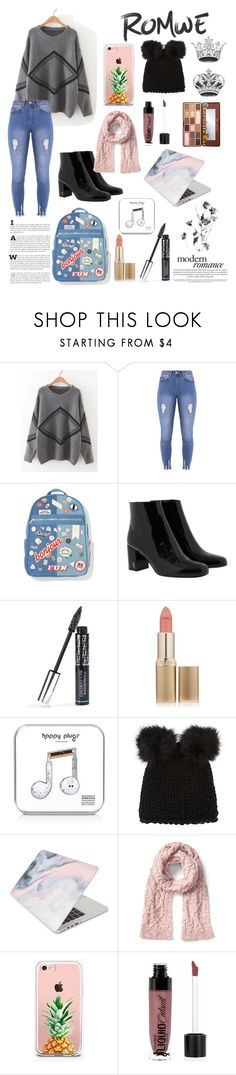 """""""jumper & jeans"""" by xmarthaxmoox ❤ liked on Polyvore featuring Lipsy, Yves Saint Laurent, Christian Dior, L'Oréal Paris, Happy Plugs, Barneys New York, Recover, The Casery and Wet n Wild"""