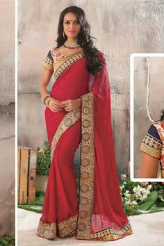 #party #saree @  http://zohraa.com/red-jacquard-saree-z1518p26515-1.html #partysarees #celebrity #zohraa #onlineshop #womensfashion #womenswear #bollywood #look #diva #party #shopping #online #beautiful #beauty #glam #shoppingonline #styles #stylish #model #fashionista #women #lifestyle #fashion #original #products #saynotoreplicas (Shipping : Your order will be shipped within 1 day from the date of purchase)