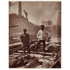Photograph - Canal Workers; Street Life in London, 1877/8, staged
