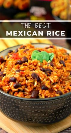 This Mexican Rice is simple to prepare and full of zesty flavors Filled with fresh salsa black beans and spices this rice is makes an easy side dish for just about any meal rice mexicanrice mexicanricerecipe ricerecipe easyrice sidedish easysidedish Mexican Beans And Rice, Rice With Beans, Mexican Rice Recipes, Black Beans And Rice, Rice Recipes For Dinner, Bean Recipes, Easy Rice And Beans Recipe, Healthy Mexican Rice, Mexican Bean Salad