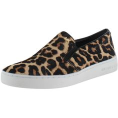 Michael Kors Keaton Women's Cheetah Slip On Sneakers Shoes ($110) ❤ liked on Polyvore