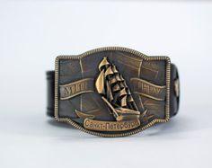 Leather belt Buckle belt Honor&Glory man leather belt by werfstore