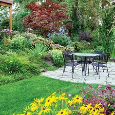 Large backyard landscaping ideas are quite many. However, for you to achieve the best landscaping for a large backyard you need to have a good design. Sloped Backyard Landscaping, Landscaping Ideas, Sloping Backyard, Sloping Garden, Hillside Garden, Backyard Designs, Backyard Ideas, Sloped Front Yard, Garden Solutions