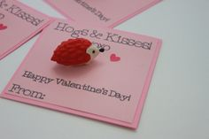 Hedge Hogs- Hugs & Kisses Valentine Cards with Hedge Hog Eraser- 20 count  Each card features a removable hedge hog puzzle style eraser. The words are drawn by a die cut machine with a permanent black marker. These cards are my original design. Measure 3.75 inches tall and 3.75 inches wide. Includes 20 cards, 20 erasers, and 20 removable glue dots. Simply adhere the eraser to the cards when your package arrives.  Need a different amount? Please check with me for availability. Questions? P...