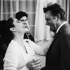 """""""I cannot imagine life without him. I love him. I adore him. Our love is so deep that I don't give a goddamn what people think or say about us."""" - Elizabeth Taylor on Richard Burton"""