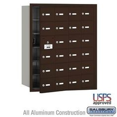4B+ Horizontal Mailbox - 24 A Doors (23 usable) - Bronze - Front Loading - USPS Access by Salsbury Industries. $756.00. 4B+ Horizontal Mailbox - 24 A Doors (23 usable) - Bronze - Front Loading - USPS Access - Salsbury Industries - 820996417503. Save 10%!