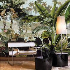 3d Wallpaper Green, Cheap Wallpaper, Paper Wallpaper, Photo Wallpaper, Wallpaper Suppliers, Rainforest Plants, Plant Background, Three Dimensional, Wall Sticker