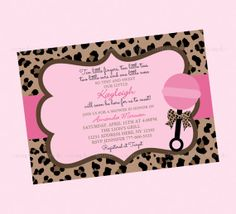 Pink & Leopard Baby Shower Invitation by BriezeesBoutique on Etsy, $12.99