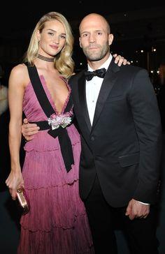 Rosie Huntington-Whiteley in Gucci and Jason Statham