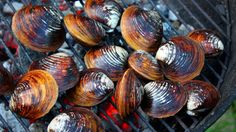 Grilled Clams with Garlic Butter Sauce adapted from The Summer Shack Cookbook- Jasper White, NPR: <a href=