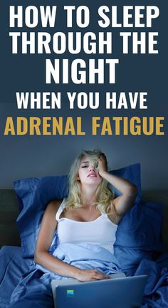 Poor Sleep – One Of The Most Frustrating Adrenal Fatigue Syndrome Symptoms. Getting a good night's restorative sleep is pretty impossible if you have adrenal fatigue syndrome. Adrenal Fatigue Treatment, Adrenal Fatigue Symptoms, Adrenal Glands, Chronic Fatigue Syndrome, Chronic Illness, Hypothyroidism Symptoms, Fatigue Surrénale, Adrenal Health, Mental Health