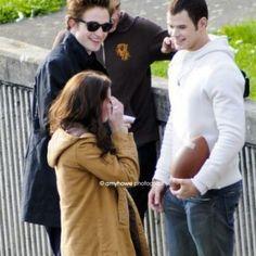 Rob/Kristen/Emmett on the set of Twilight
