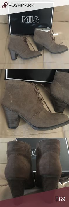Mia booties Fianna taupe nova suede NEW sz 8 Mia booties Fianna taupe nova suede NEW sz 8 Mia Shoes Ankle Boots & Booties