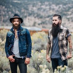 —> @bradyleffler & @trig_perez | photo: @gilsphotography for @zeusmenco | posted by beardcollective