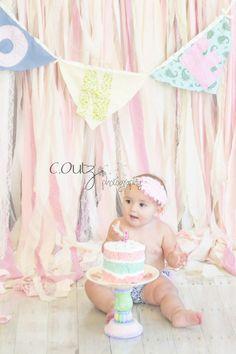 First Birthday.  Cake Smash Photography