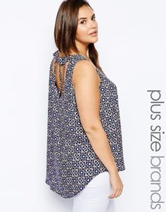 New Look Inspire Cut Out Back Top #asos