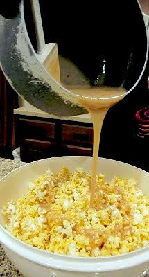 This stuff is the BOMB Soft Caramel for Popcorn 1c brown sugar, 1 stick butter, 1c karo syrup, 1 can condensed milk ✿⊱╮