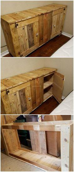 decent pallet wood counter idea