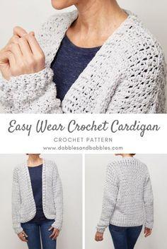 Black Crochet Dress, Crochet Coat, Crochet Clothes, Crochet Sweaters, Crochet Gratis, Cute Crochet, Easy Crochet, Double Crochet, Single Crochet
