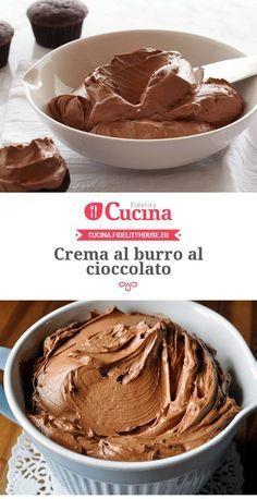 Crema al burro al cioccolato Creme Dessert, Pie Dessert, Chocolate Butter, Chocolate Recipes, Sweets Recipes, Cake Recipes, Nutella, Salsa Dulce, Biscuit Cake