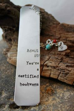 Hey, I found this really awesome Etsy listing at https://www.etsy.com/listing/128256262/hand-stamped-book-mark-custom